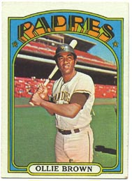 1972 Topps Baseball Cards      551     Ollie Brown